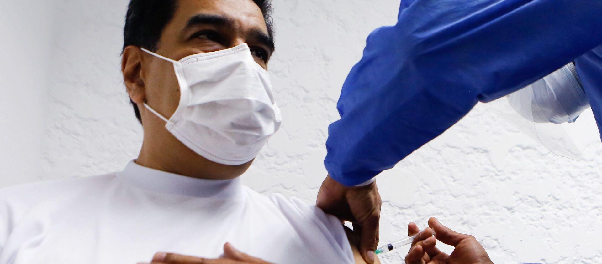 Prezydent Wenezueli Maduro zaszczepiony szczepionką Sputnik V - Sputnik Polska, 1920, 08.03.2021