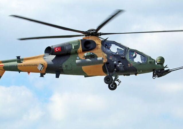 Turecki śmigłowiec T129 ATAK.