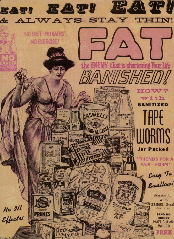 Reklama tasiemców dla utraty wagi w USA