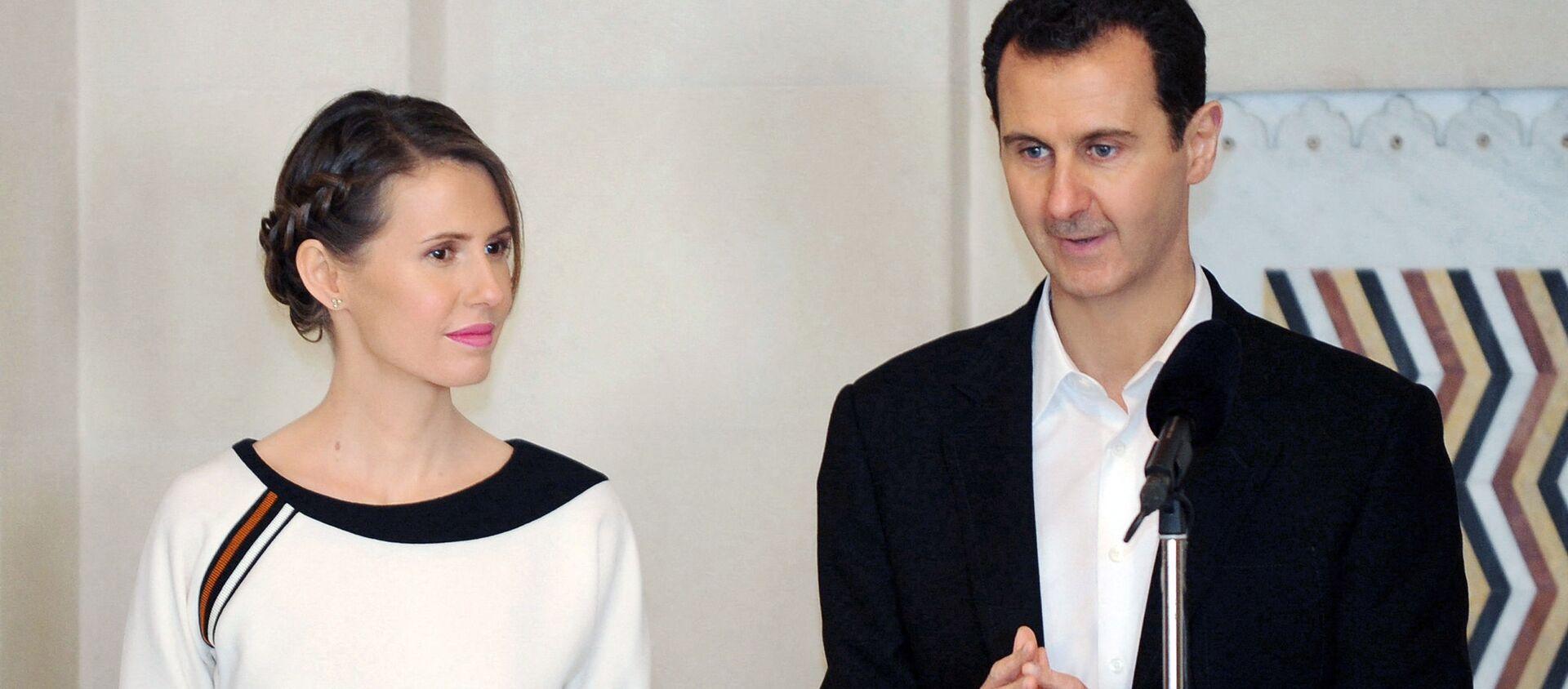 Prezydent Syrii Baszar al-Asad z żoną Asmą. - Sputnik Polska, 1920, 08.03.2021