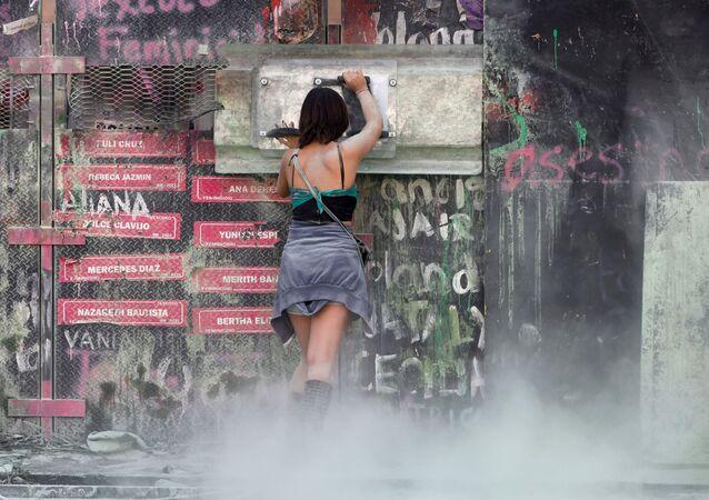 Protest z okazji Międzynarodowego Dnia Kobiet w Meksyku