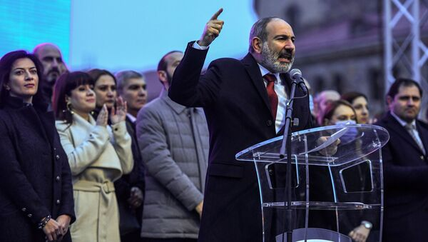 Premier Armenii Nikol Paszinian. - Sputnik Polska