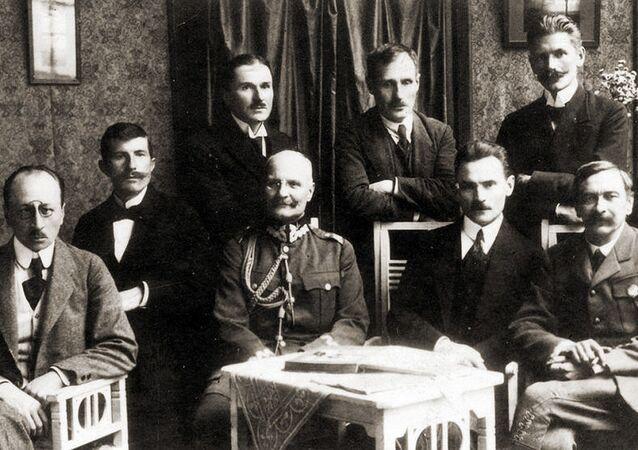 Delegacja polska na rokowania o zawieszeniu broni i zawarciu pokoju z Rosją Sowiecką 1920.
