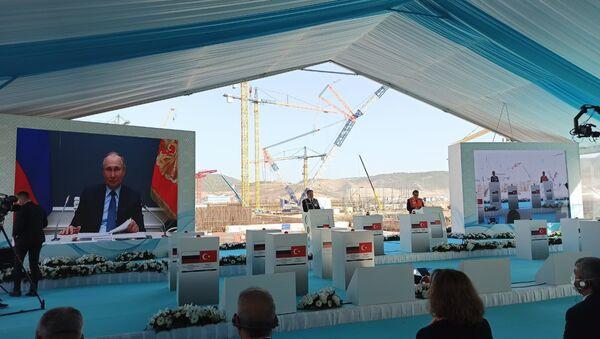 Budowa trzeciego bloku energetycznego elektrowni Akkuyu - Sputnik Polska