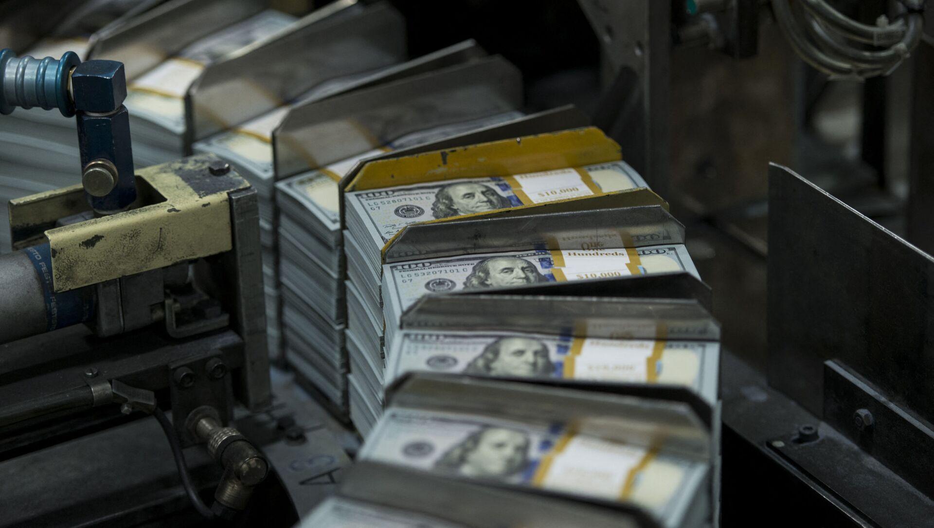 Drukowanie banknotów dolarowych w Teksasie. - Sputnik Polska, 1920, 09.05.2021