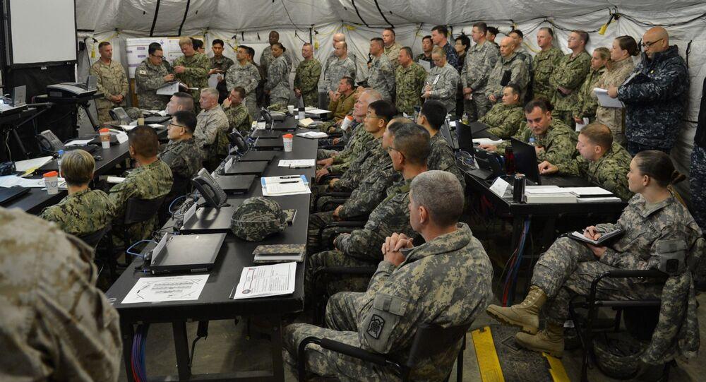 Żołnierze USA i Korei Południowej podczas wspólnych ćwiczeń wojskowych.