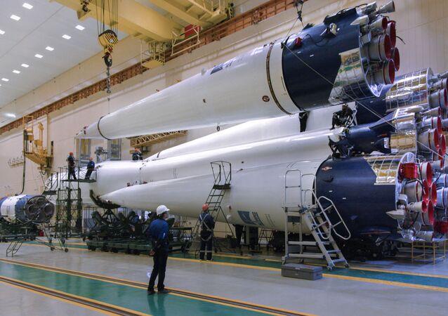Rakieta Sojuz.