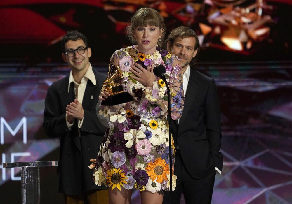 Piosenkarka Taylor Swift na 63. ceremonii rozdania nagród Grammy w Los Angeles