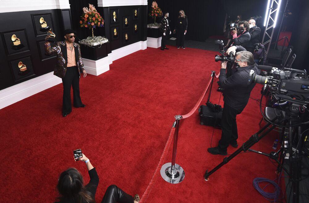 Producent muzyczny Anderson Paak na 63. ceremonii rozdania nagród Grammy w Los Angeles
