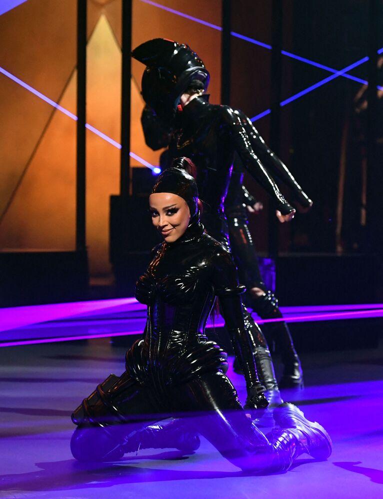 Piosenkarka Doja Cat na 63. ceremonii rozdania nagród Grammy w Los Angeles
