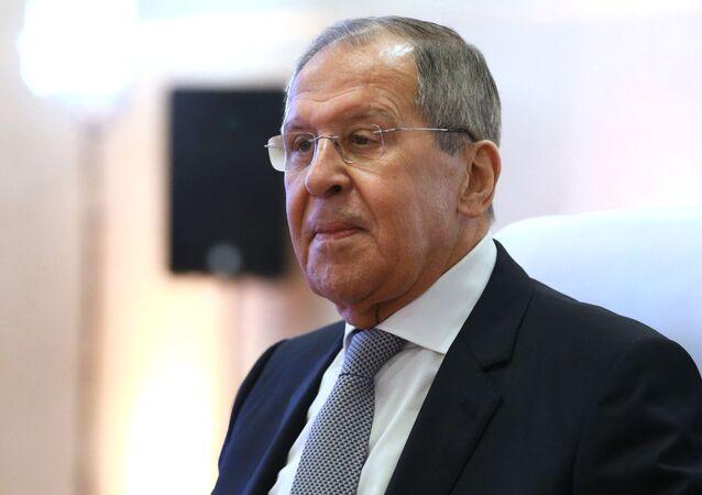 Minister spraw zagranicznych Rosji Siergiej Ławrow.