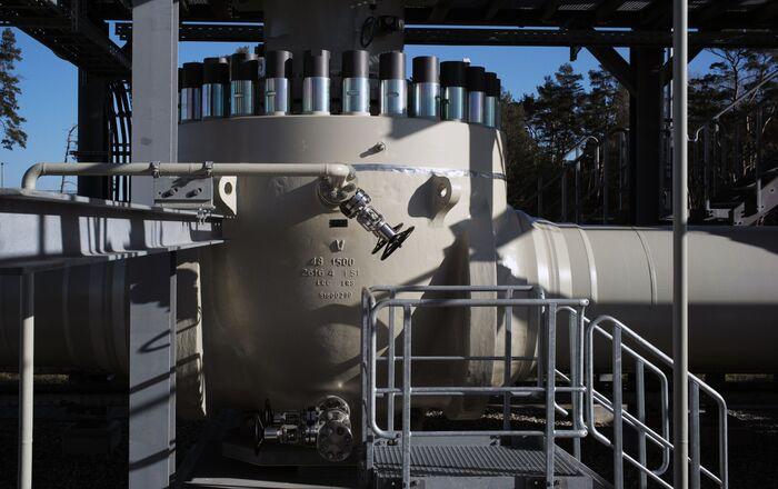 Obiekt lądowy gazociągu Nord Stream 2 w niemieckim mieście Lubmin.