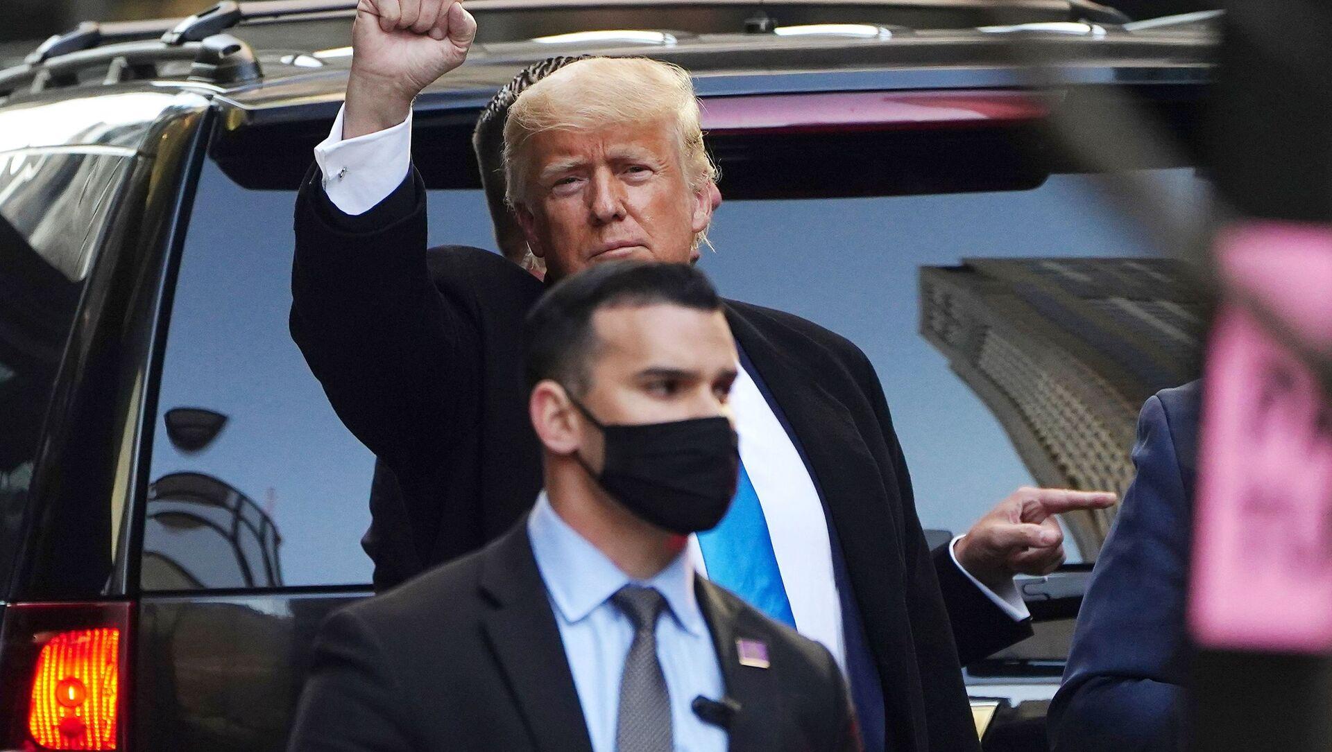 Były prezydent USA Donald Trump w Nowym Jorku - Sputnik Polska, 1920, 04.06.2021