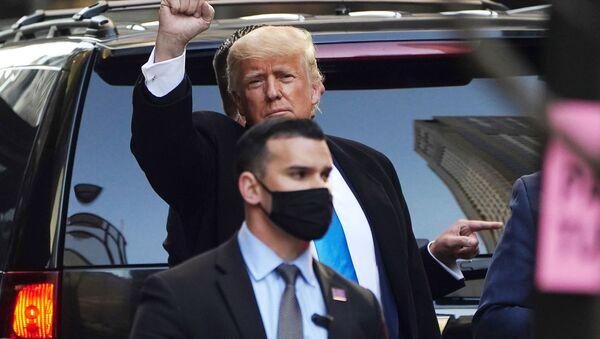 Były prezydent USA Donald Trump w Nowym Jorku - Sputnik Polska
