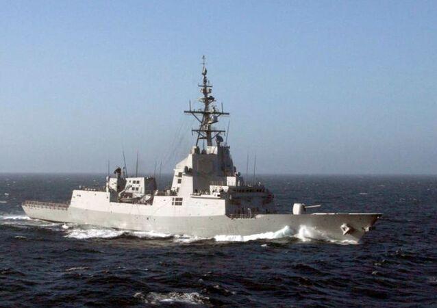 """Hiszpańska fregata """"Méndez Núñez"""" (F104)"""