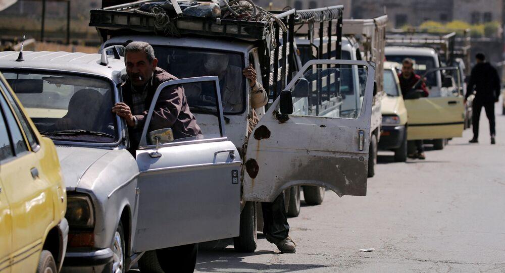 Kolejki przed stacjami benzynowymi, Syria