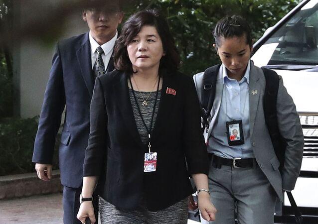 Pierwsza wiceminister spraw zagranicznych Cze Son Hui.