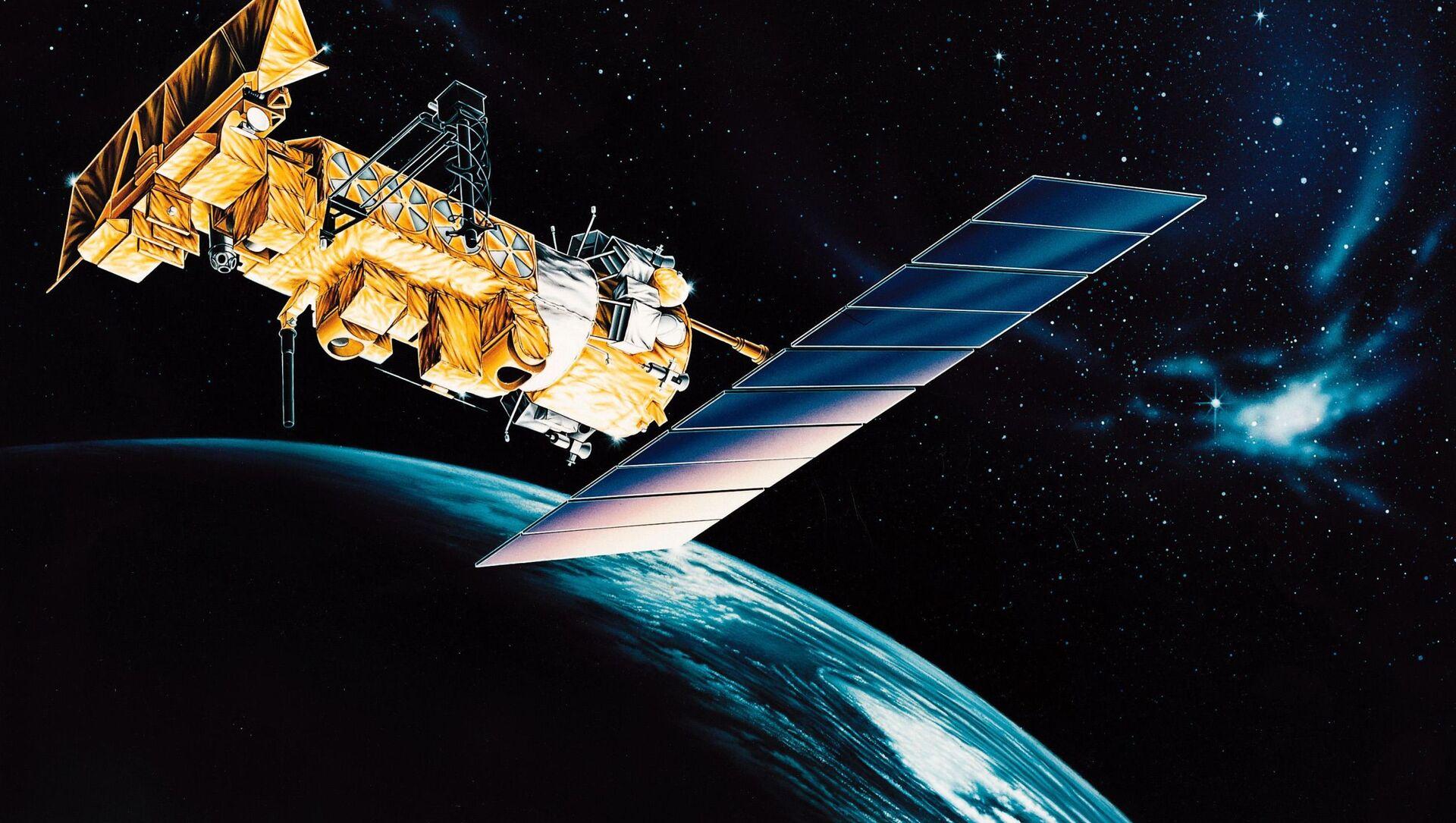 Artystyczne przedstawienie amerykańskiego satelity meteorologicznego NOAA 17. - Sputnik Polska, 1920, 19.03.2021