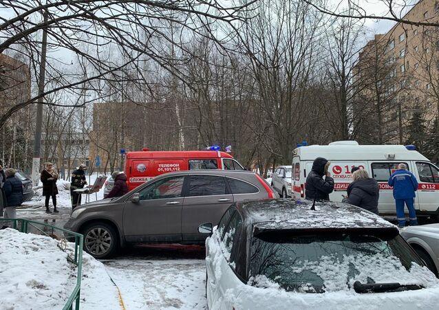 Wybuch w mieszkaniu w Chimkach 19 marca 2021