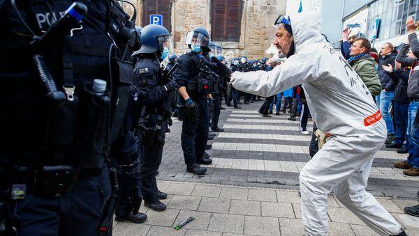 Protest w Kassel, Niemcy - Sputnik Polska