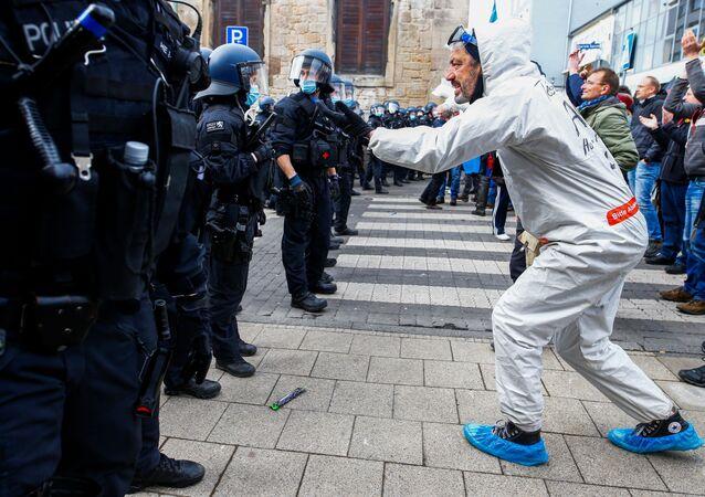 Protest w Kassel, Niemcy