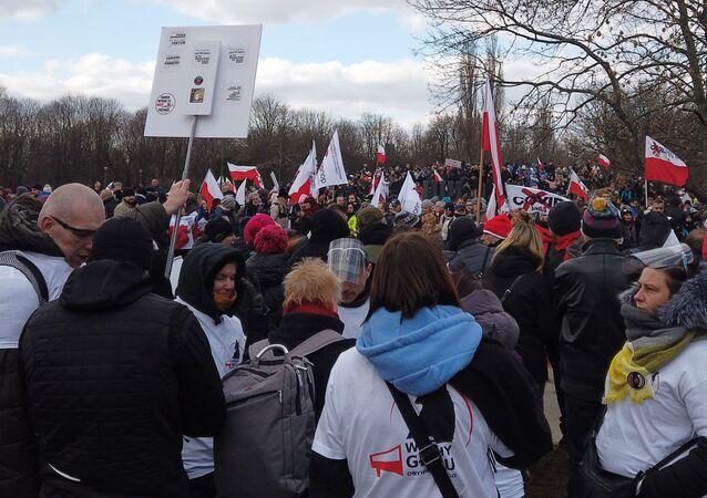 Marsz Idziemy po wolność w Warszawie 20 marca 2021