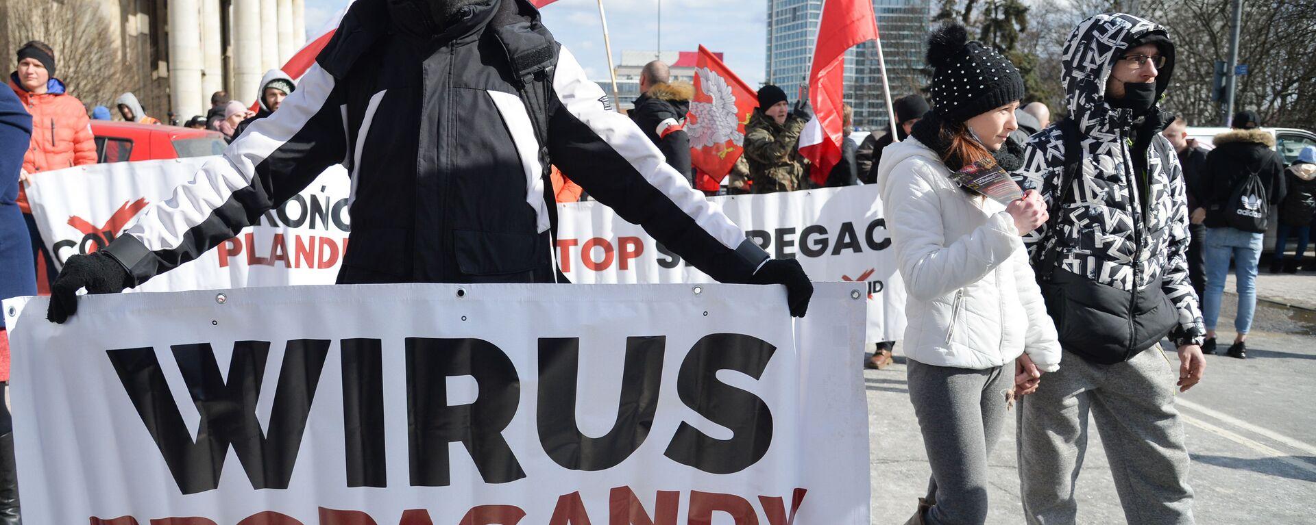 Protesty w Warszawie - Sputnik Polska, 1920, 14.04.2021