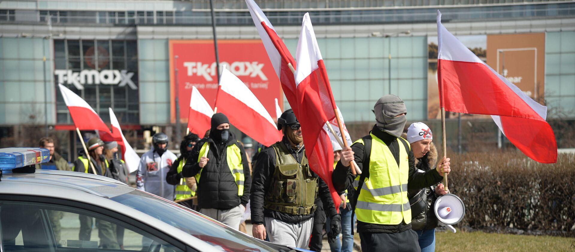 Protesty w Warszawie - Sputnik Polska, 1920, 20.03.2021