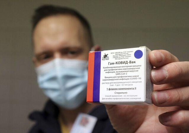 Rosyjska szczepionka przeciw koronawirusowi Sputnik V.