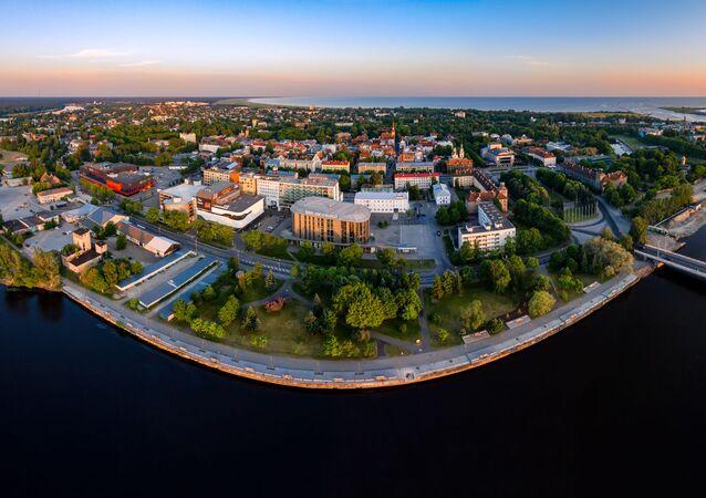 Widok na estońskie miasto Parnu