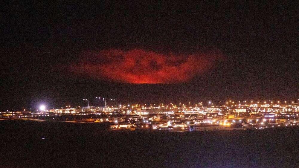 Erupcja wulkanu Fagradalsfjall w Islandii