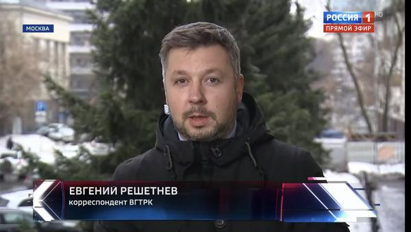Jewgienij Reszetniow, dziennikarz ogólnorosyjskiej państwowej agencji telewizyjno-radiowej VGTRK - Sputnik Polska