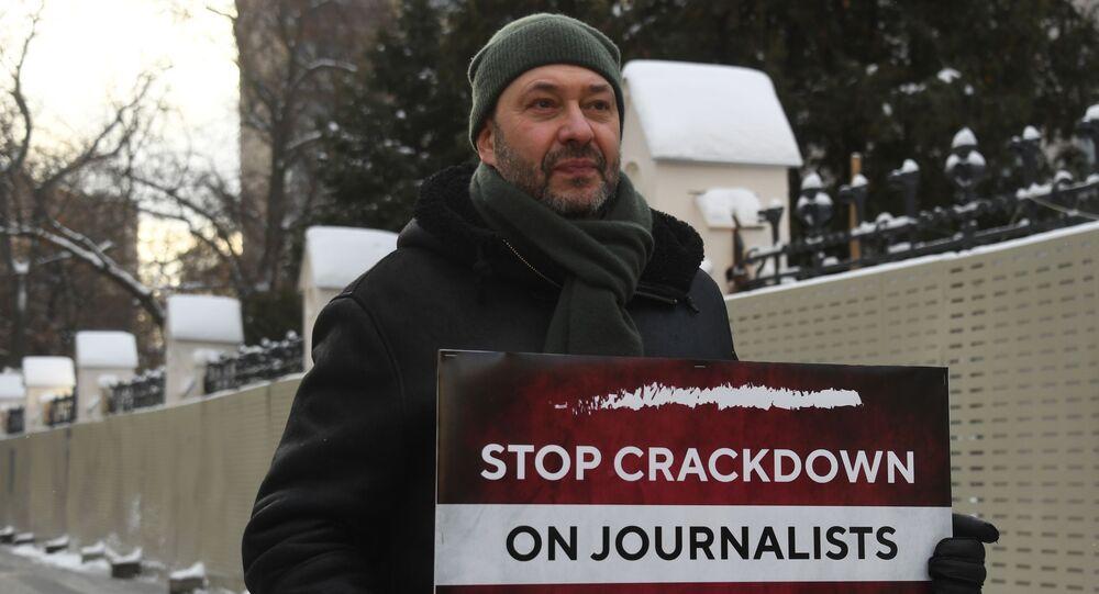Łotwa, protest reporterów