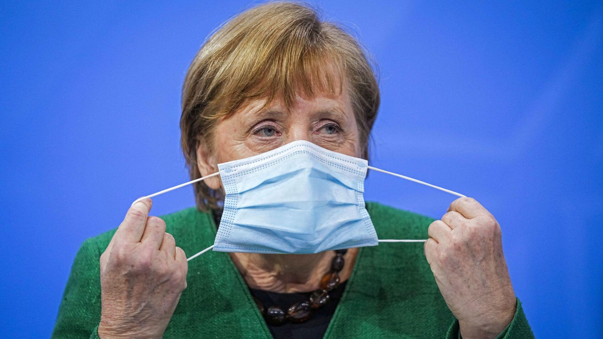 Kanclerz Niemiec Angela Merkel na konferencji prasowej w Niemczech - Sputnik Polska, 1920, 26.04.2021