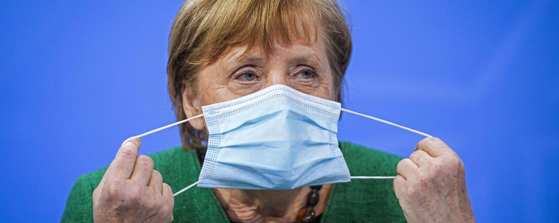 Kanclerz Niemiec Angela Merkel na konferencji prasowej w Niemczech - Sputnik Polska, 1920, 13.07.2021