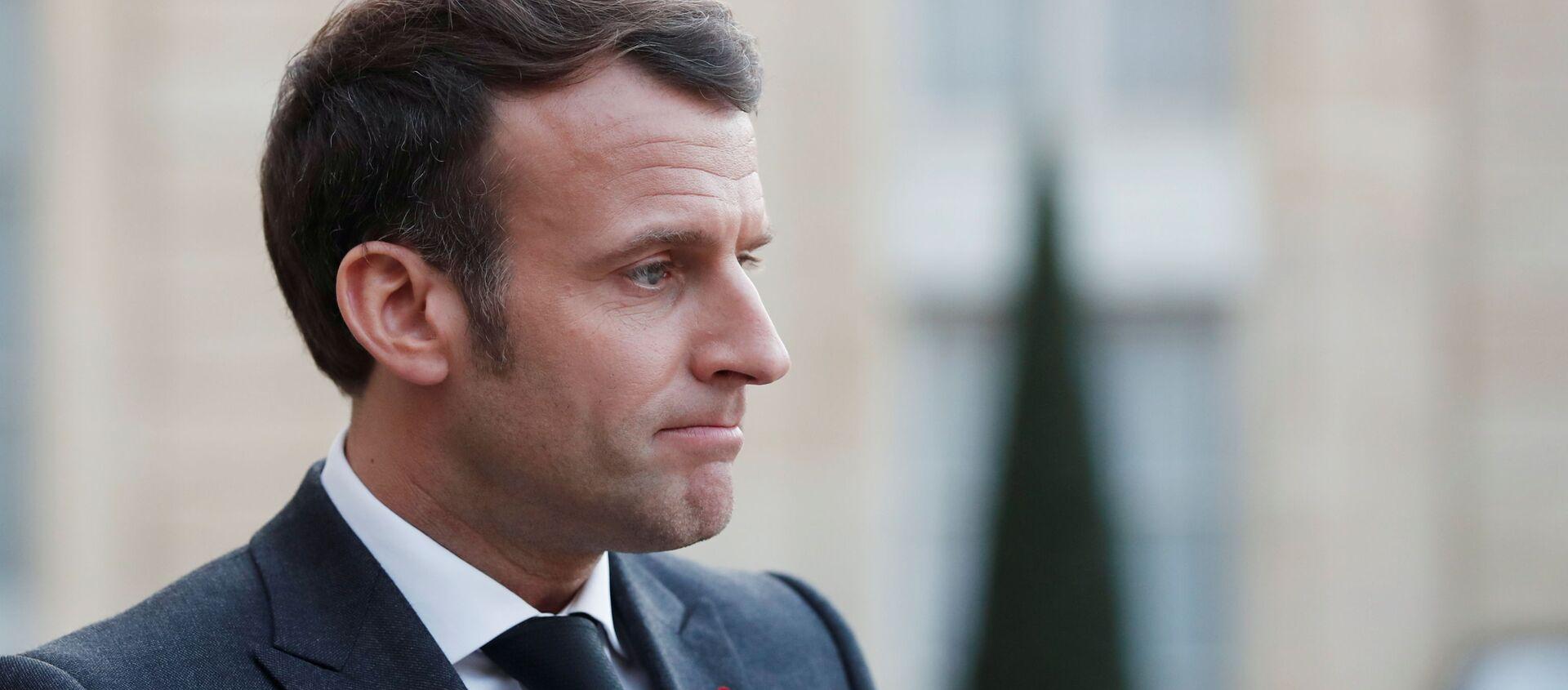Prezydent Francji Emmanuel Macron - Sputnik Polska, 1920, 08.06.2021