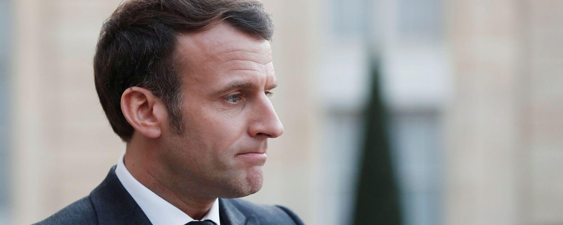 Prezydent Francji Emmanuel Macron - Sputnik Polska, 1920, 26.03.2021