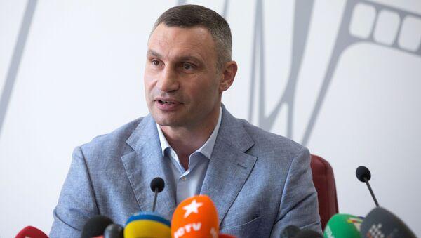 Witalij Kliczko na konferencji prasowej w Kijowie - Sputnik Polska