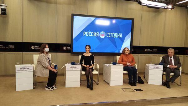 Uczestnicy konferencji na temat badań o stosunkach polsko-rosyjskich, Moskwa 24.03.2021 r. - Sputnik Polska