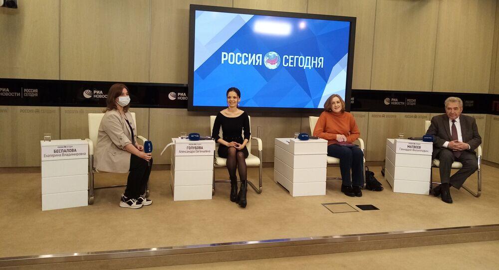 Uczestnicy konferencji na temat badań o stosunkach polsko-rosyjskich, Moskwa 24.03.2021 r.