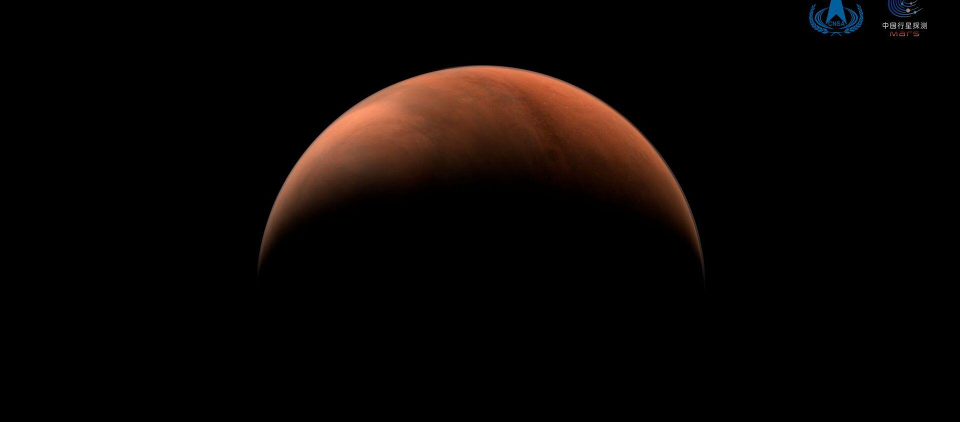 """Zdjęcie Marsa wykonane przez sondę kosmiczną """"Tianwen-1"""" - Sputnik Polska, 1920, 26.03.2021"""