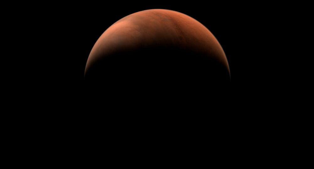 """Zdjęcie Marsa wykonane przez sondę kosmiczną """"Tianwen-1"""""""