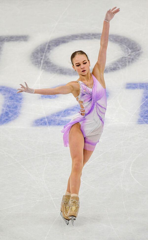 Rosyjska łyżwiarka figurowa Aleksandra Trusowa na Mistrzostwach Świata w Łyżwiarstwie Figurowym w Sztokholmie - Sputnik Polska