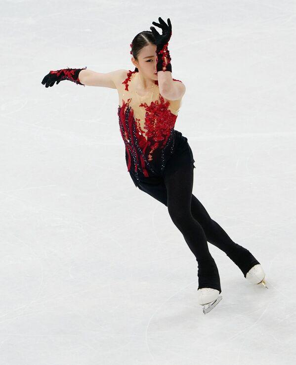 Japońska łyżwiarka figurowa Rika Kihira na Mistrzostwach Świata w Łyżwiarstwie Figurowym w Sztokholmie - Sputnik Polska