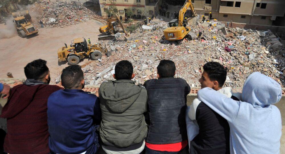 Katastrofa budowlana w Kairze.
