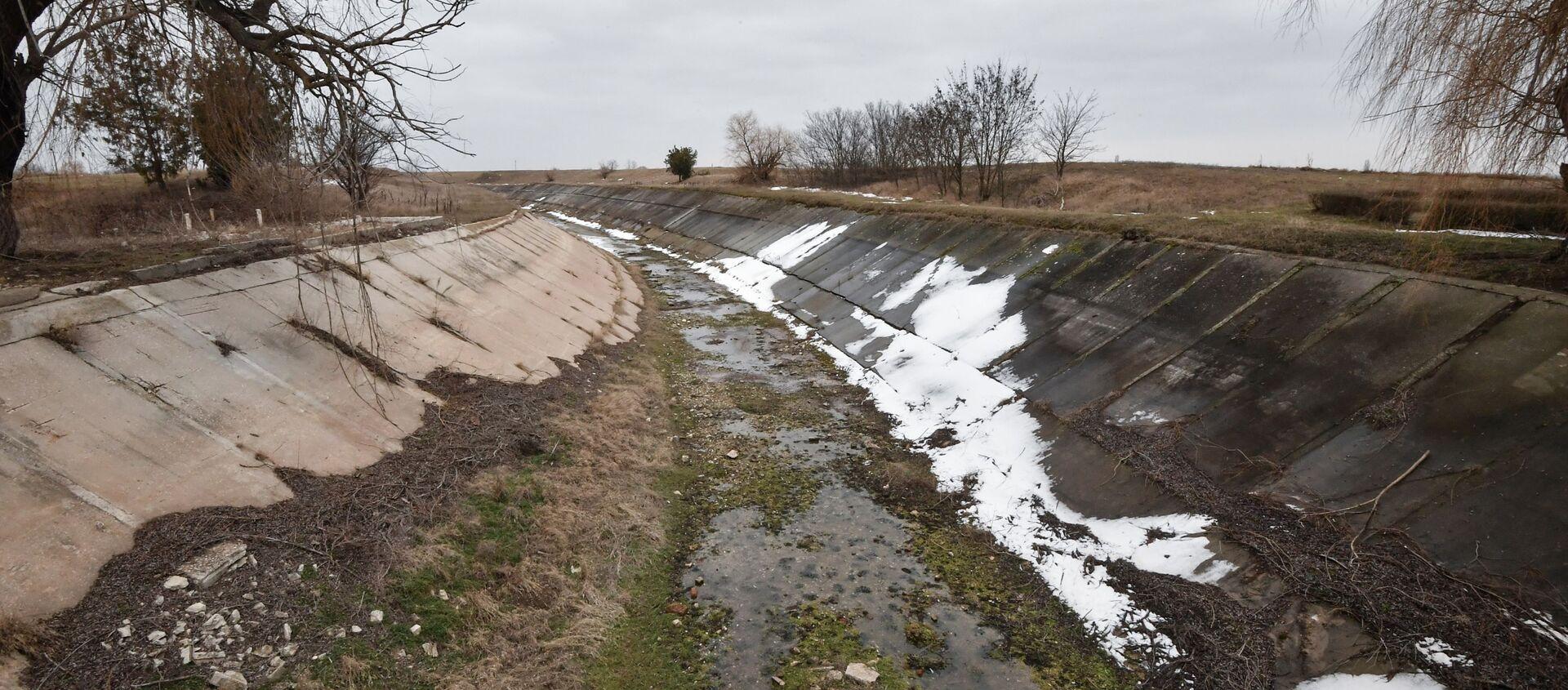Kanał wodny zbudowany w latach 1961-1971 w celu dostarczania wody do obwodów chersońskiego i krymskiego - Sputnik Polska, 1920, 30.03.2021