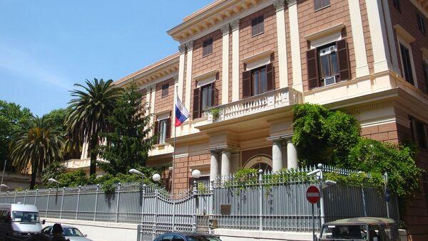Budynek Ambasady Federacji Rosyjskiej we Włoszech - Sputnik Polska