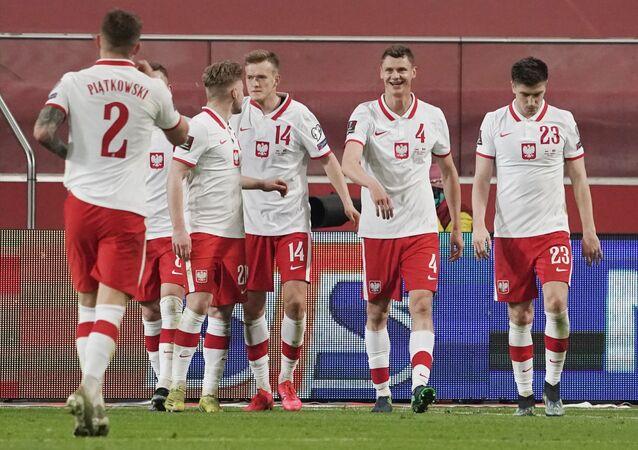 Reprezentacja Polski podczas meczu kwalifikacyjnego MŚ z Andorą