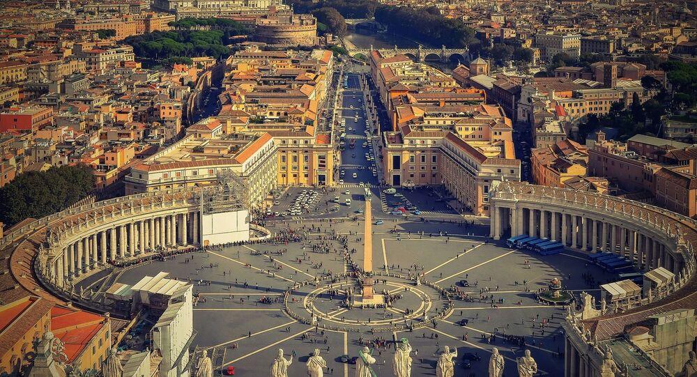 Widok z lotu ptaka na Watykan