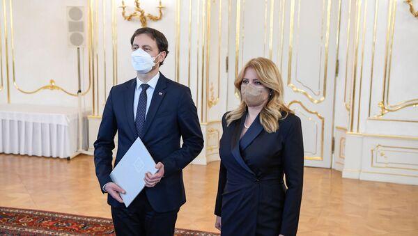 Prezydent Słowacji Zuzana Čaputová zatwierdziła z premierem Eduardem Hegerem. - Sputnik Polska